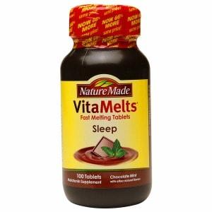 Nature Made VitaMelts Sleep Melatonin 3mg, Tablets, Chocolate Mint- 100 ea
