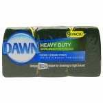 Dawn Heavy Duty Scrubber Sponges, Green/Yellow- 9 ea
