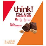 thinkThin Lean Protein & Fiber Bars, Chunky Chocolate Peanut, 10 pk- 1.41 oz