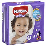 Huggies Little Movers Diapers, Jumbo Pack, Size 4- 24 ea