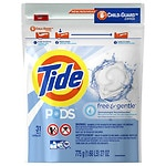 Tide PODS Free & Gentle Laundry Detergent Pacs, Unscented