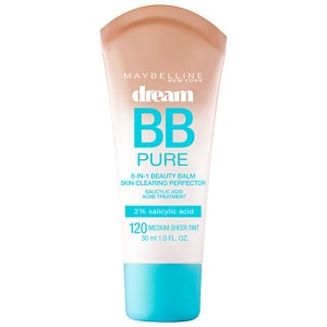 Maybelline Dream Pure BB 8-in-1 Beauty Balm Skin Clearing Perfector, Medium Tint