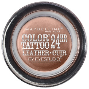 Maybelline Color Tattoo 24Hr Leather by EyeStudio Cream Gel Eyeshadow, Creamy Beige, .14 oz