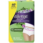 Always Discreet Incontinence Underwear, Maximum Absorbency, Small/Medium- 32 ea