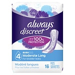 Always Discreet Incontinence Pads, Long Length, Moderate