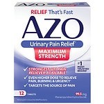 AZO Maximum Strength Urinary Pain Relief Tablets- 12 ea