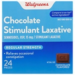 Walgreens Regular Strength Laxative Tablets, Chocolate