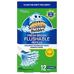 Scrubbing Bubbles Fresh Brush Flushable Refill, Citrus Action- 12 ea