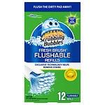 Scrubbing Bubbles Fresh Brush Flushable Refill, Citrus Action- 12 ea