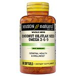 Mason Natural Coconut Oil / Flax Seed Omega 3-6-9, Softgels- 60 ea