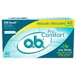 o.b. Pro Comfort Tampons, Regular- 40 ea