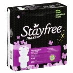 Stayfree Maxi Pads with Wings, Overnight