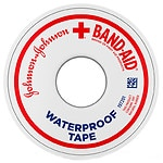 Band-Aid Waterproof Tape, 0.5 Inch