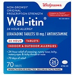 Walgreens Wal-itin Non-Drowsy 24 Hour Allergy Relief Tablets- 70 ea