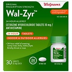 Walgreens Wal-Zyr 24 Hour Allergy Tablets- 30 ea