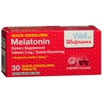 Walgreens Melatonin, Quick Dissolve Tablets, Cherry- 30 ea