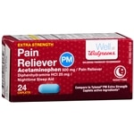 Walgreens Pain Reliever PM Extra Strength, Caplets
