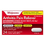 Walgreens Arthritis Pain Reliever Caplets- 24 ea