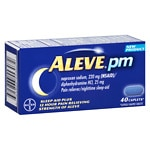 Aleve PM Pain Reliever, Nighttime Sleep-Aid Caplets- 40 ea