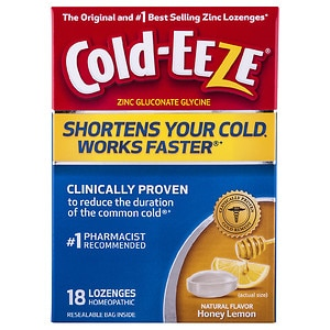 Cold-Eeze Cold Remedy Lozenges, Honey Lemon, 18 ea