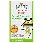 ZarBee's Naturals Baby Cough Syrup + Mucus Reducer, Grape
