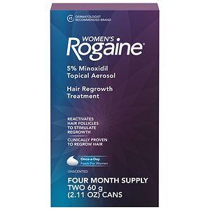 Women's Rogaine Hair Regrowth Treatment Foam, 4 Month Supply, 2 pk