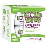 Boogie Wipes Gentle Saline Wipes, Unscented- 90 sh