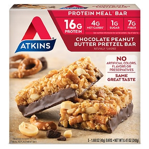 Atkins Advantage Meal Bars, Chocolate Peanut Butter Pretzel, 5 pk
