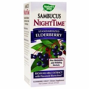 Nature's Way Sambucus NightTime Standardized Elderberry Syrup