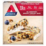 Atkins Meal Bars, 5 pk, Blueberry Greek Yogurt- 1.69 oz