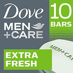 Dove Men+Care Body & Face Bar, Extra Fresh, 10 pk- 4 oz