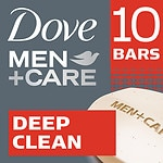Dove Men+Care Body & Face Bar, Deep Clean, 10 pk
