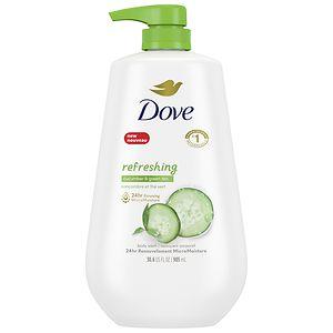 Dove Body Wash Cool Moisture Pump, Cucumber & Green Tea