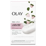 Olay Fresh Outlast Beauty Bar, Cooling White Strawberry & Mint, 6