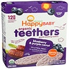 Happy Baby Gentle Teethers Organic Teething Wafers, Blueberry & Purple Carrot- 12 ea