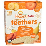 Happy Baby Gentle Teethers Organic Teething Wafers, Banana &