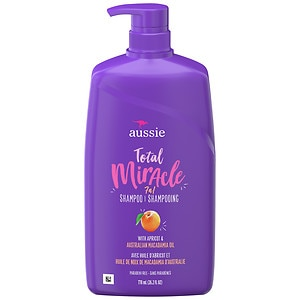 Aussie Total Miracle 7N1 Shampoo with Pump, 26.2 oz