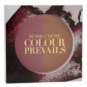 Nonie Creme Colour Prevails Bashful Biscuit Blush / Bronzer Duo, Pretty Pink (Pink)
