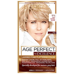 L'Oreal Paris Excellence Age Perfect Layered-Tone Flattering Color, Light Natural Blonde