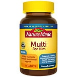 Nature Made Multi For Him, Complete Multi Vitamin/Mineral, Tablets