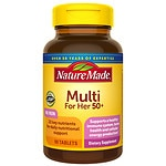 Nature Made Multi For Her 50+, Complete Multivitamin/Mineral, Tablets- 90 ea