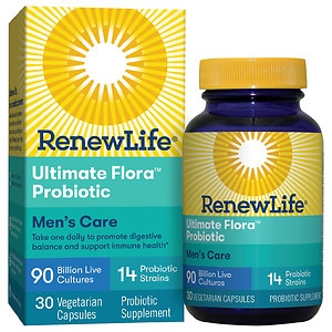 ReNew Life Ultimate Flora Men's Complete 90 Billion, Vegetable Capsules