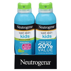 Neutrogena Wet Skin Kids Beach & Pool Sunscreen Spray, SPF 7