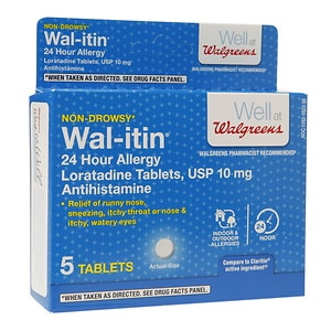 Walgreens Wal-itin Non-Drowsy 24 Hour Allergy Relief Tablets