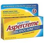 Aspercreme Maximum Strength Lidocaine Pain Relieving Creme- 2.7 oz