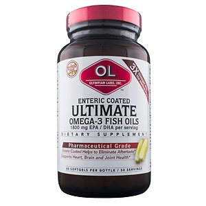 Olympian Labs Enteric Coated Ultimate Omega-3 Fish Oils 1800mg