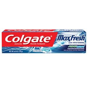 Colgate Max Fresh Shockwave Gel Toothpaste, Electric Mint, 6
