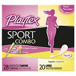 Playtex Sport Combo Pack Tampons & Liners, Regular/Super- 48 ea