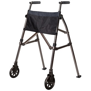 Stander EZ Fold N' Go Walker, Black Walnut