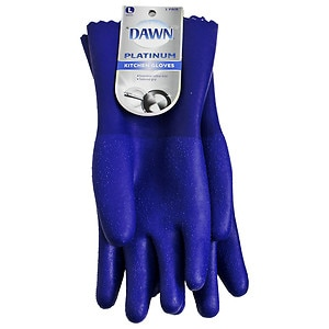 Dawn Platinum Kitchen Glove, Blue, Large